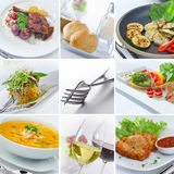 Food theme mix Stock Photo