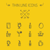 Food thin line icon set Royalty Free Stock Photos