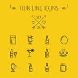 Food thin line icon set Royalty Free Stock Photos