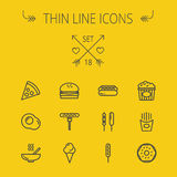 Food thin line icon set Royalty Free Stock Images