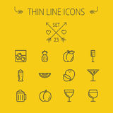 Food thin line icon set Royalty Free Stock Photo