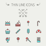 Food thin line icon set Stock Photography