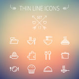 Food thin line icon set Royalty Free Stock Image