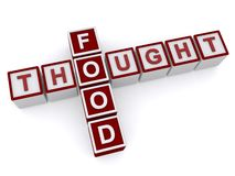Food for thought Stock Image