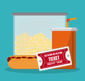 Food and ticket design Royalty Free Stock Images