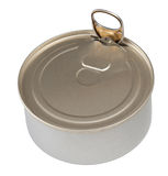 Food tin can isolated with clipping path included Stock Photos