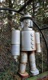 Food tin can robot royalty free stock photo