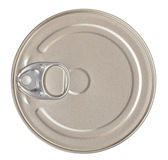 Food Tin Can Top View Isolated Clipping Path Royalty Free Stock Photo