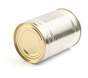Food tin can on white Royalty Free Stock Photo