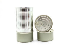 Food tin cans Royalty Free Stock Image