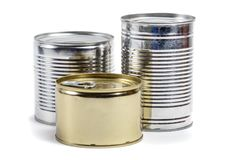 Food tin cans Stock Images