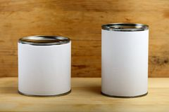 Food tin cans Stock Photos
