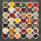 Food to Promote Heart Health Stock Photo