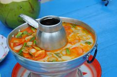 Food, Tom Yam soup, kitchen Asia Stock Image