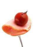 Food.Tomato e prosciutto. immagine stock