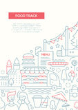 Food Track - line design brochure poster template A4 Royalty Free Stock Image