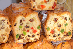 Food at the traditional street market. Traditional cake at the street market Stock Photo