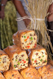 Food at the traditional street market. Traditional cake at the street market Royalty Free Stock Photo