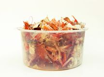 Food trash, crab shell and shrimp shell Stock Images