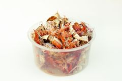 Food trash, crab shell and shrimp shell Stock Photo