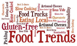 Food Trends. Word Art of 2012-2013 Food Trends Royalty Free Stock Image