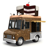 Food truck with cake vector illustration