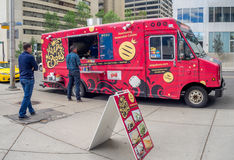 Food truck in Calgary, Alberta Stock Photo