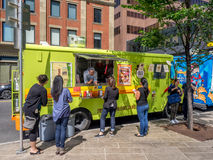 Food truck in Calgary, Alberta Stock Image
