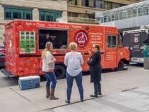 Food truck in Calgary, Alberta Royalty Free Stock Photography