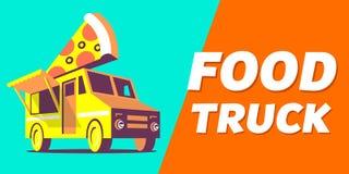 Food Truck. Car poster, banner, header.Vector Illustration Stock Images