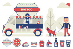 Food truck concept Royalty Free Stock Photos