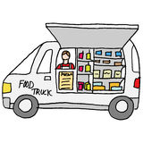 Food truck counter display Royalty Free Stock Photography