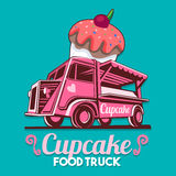 Food Truck Cupcake Birthday Cake Bakery Shop Fast Delivery Servi Stock Photography