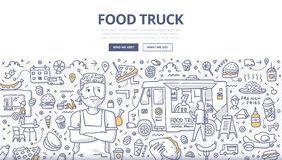 Food Truck Doodle Concept stock illustration
