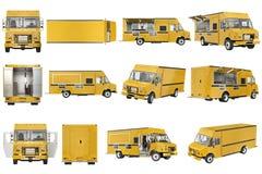 Food truck eatery set Stock Photos