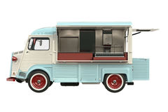 Food truck eatery, side view Royalty Free Stock Images