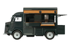 Food truck eatery, side view Royalty Free Stock Image