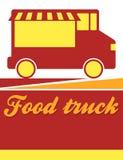 Food truck festival flyer. Design Stock Photos