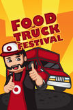 Food truck festival poster Royalty Free Stock Photography