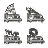 Food truck  flat illustration Royalty Free Stock Photo