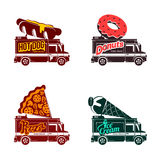 Food truck  flat illustration Royalty Free Stock Images