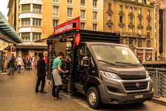 Food truck. At Geneva in Switzerland Royalty Free Stock Images