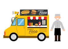Food truck hamburger,hot dog, street food Royalty Free Stock Photos