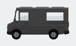 Food Truck Hi-detailed with solid and flat color design template for Mock Up Brand Identity. Stock Photography
