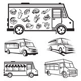 Food truck icon designs Royalty Free Stock Image