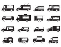 Food truck icon set Royalty Free Stock Images