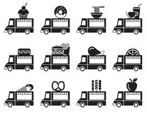 Food truck icon set. Food truck icon and symbols set Stock Image