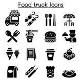 Food truck icon set. Vector illustration graphic design Stock Photo