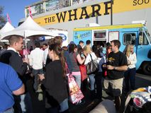 Food Truck Line Royalty Free Stock Photo