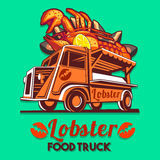 Food Truck Lobster Seafood Salad Fast Delivery Service Vector Lo Royalty Free Stock Photo